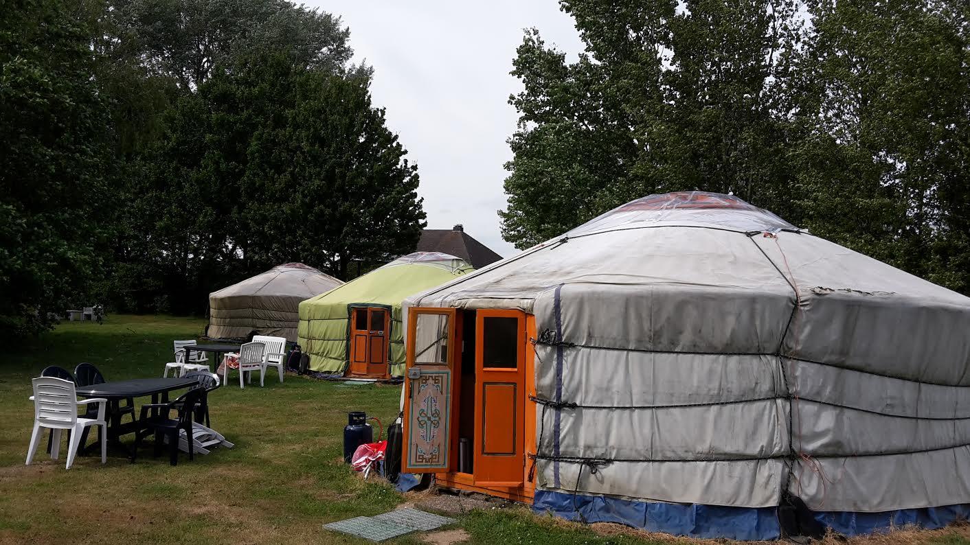 licht in de Ger of Yurt
